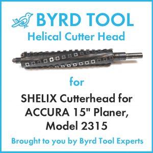 "SHELIX Cutterhead ACCURA 15"" Planer"