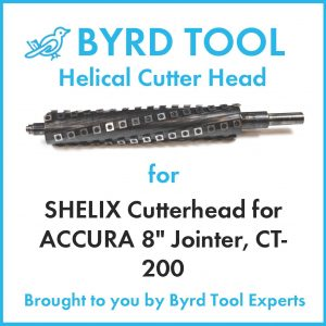 "SHELIX Cutterhead for ACCURA 8"" Jointer, CT-200"
