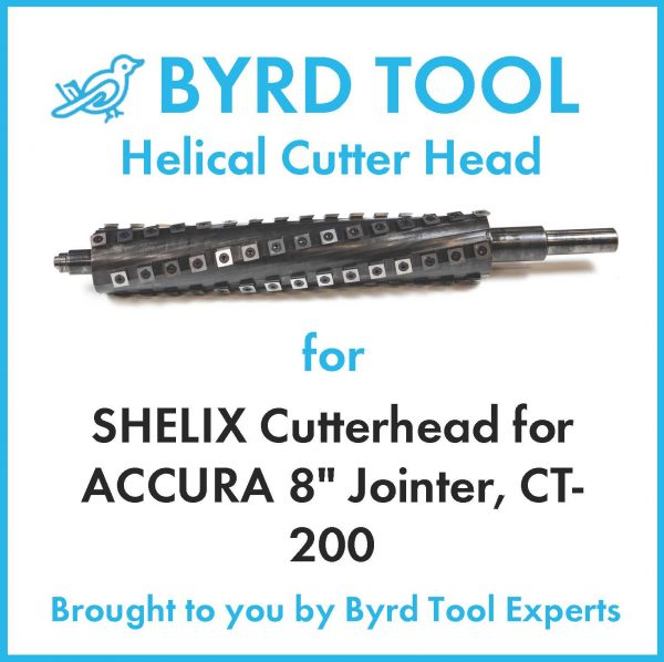 """SHELIX Cutterhead for ACCURA 8"""" Jointer, CT-200"""