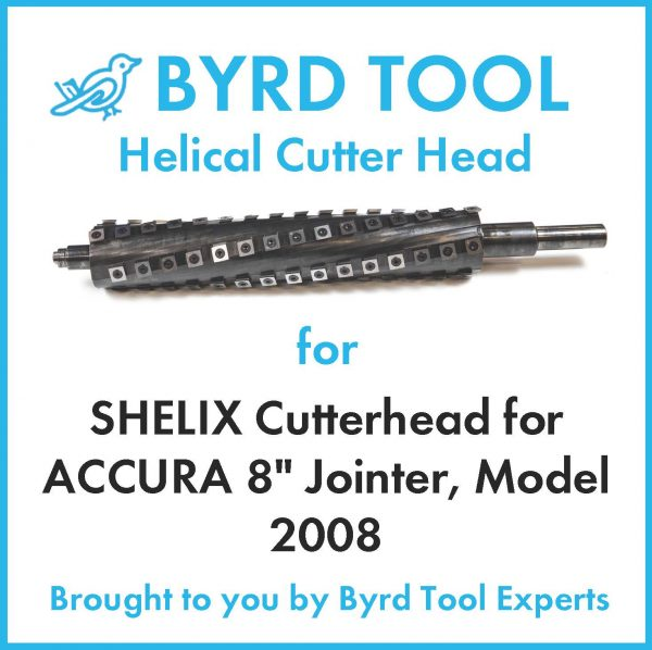 SHELIX Cutterhead for ACCURA 8″ Jointer, Model 2008