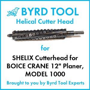 "SHELIX Cutterhead for BOICE CRANE 12"" Planer"
