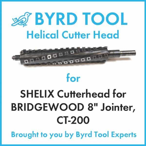 SHELIX Cutterhead for BRIDGEWOOD 8″ Jointer, CT-200