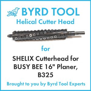 """SHELIX Cutterhead for BUSY BEE 16"""" Planer"""