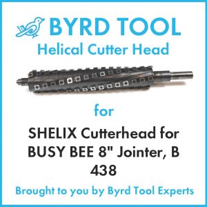 SHELIX Cutterhead for BUSY BEE 8″ Jointer, B 438