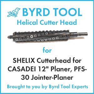 """SHELIX Cutterhead for CASADEI 12"""" Planer"""