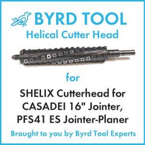 SHELIX Cutterhead for CASADEI 16″ Jointer, PFS41 ES Jointer-Planer