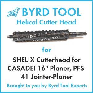 """SHELIX Cutterhead for CASADEI 16"""" Planer"""