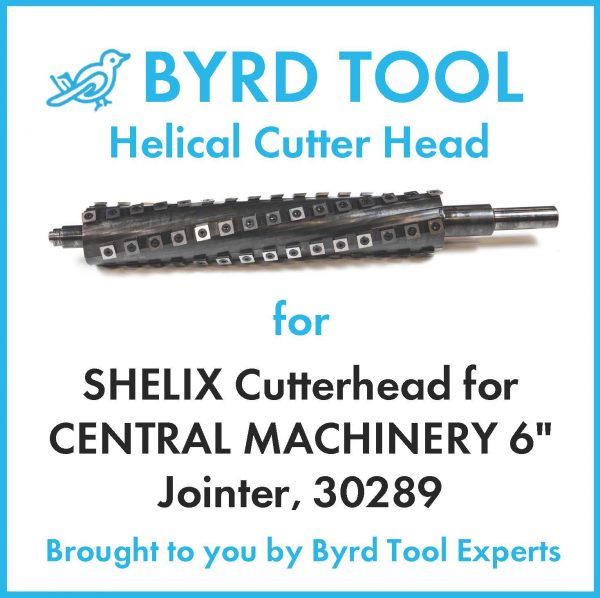 SHELIX Cutterhead for CENTRAL MACHINERY 6″ Jointer, 30289