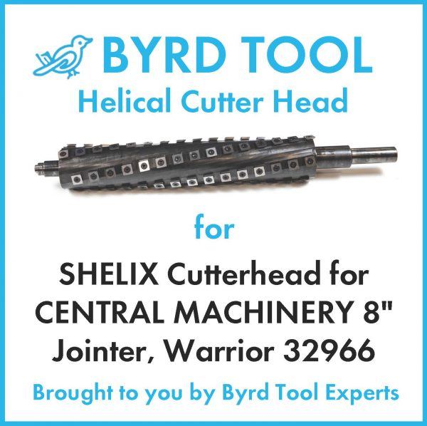 SHELIX Cutterhead for CENTRAL MACHINERY 8″ Jointer, Warrior 32966
