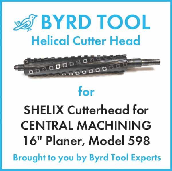"SHELIX Cutterhead for CENTRAL MACHINING 16"" Planer"
