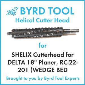 """SHELIX Cutterhead for DELTA 18"""" Planer"""