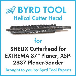 """SHELIX Cutterhead for EXTREMA 37"""" Planer"""