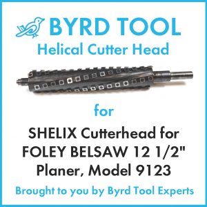 "SHELIX Cutterhead for FOLEY BELSAW 12 1/2"" Planer"