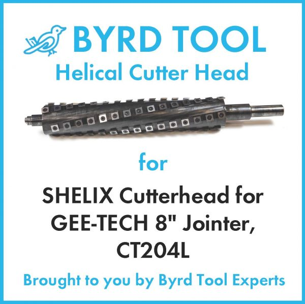 SHELIX Cutterhead for GEE-TECH 8″ Jointer, CT204L