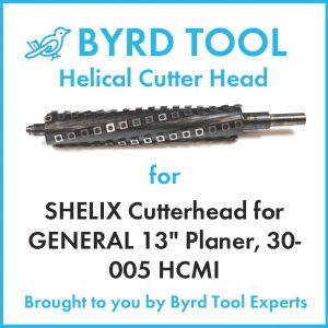 "SHELIX Cutterhead for GENERAL 13"" Planer"
