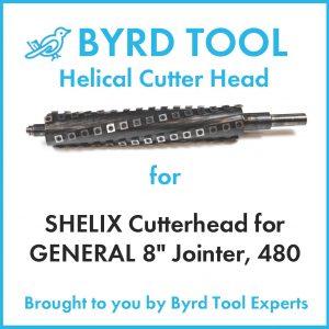 SHELIX Cutterhead for GENERAL 8″ Jointer, 480