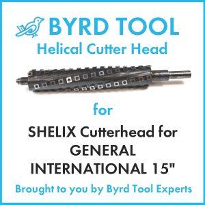 """SHELIX Cutterhead for GENERAL INTERNATIONAL 15"""" Planer"""