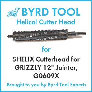 SHELIX Cutterhead for GRIZZLY 12″ Jointer, G0609X
