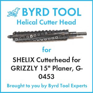 """SHELIX Cutterhead for GRIZZLY 15"""" Planer"""