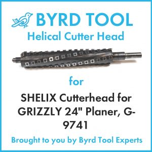 """SHELIX Cutterhead for GRIZZLY 24"""" Planer"""