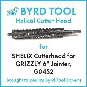 SHELIX Cutterhead for GRIZZLY 6″ Jointer, G0452