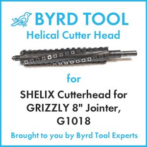 SHELIX Cutterhead for GRIZZLY 8″ Jointer, G1018