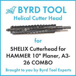 """SHELIX Cutterhead for HAMMER 10"""" Planer"""