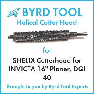 """SHELIX Cutterhead for INVICTA 16"""" Planer"""