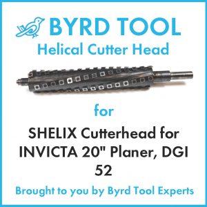 """SHELIX Cutterhead for INVICTA 20"""" Planer"""