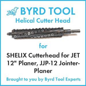 "SHELIX Cutterhead for JET 12"" Planer"