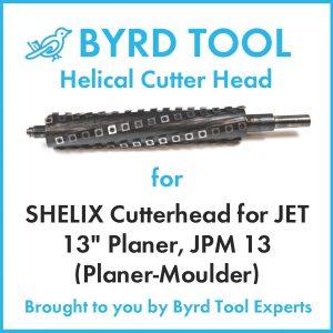 "SHELIX Cutterhead for JET 13"" Planer"