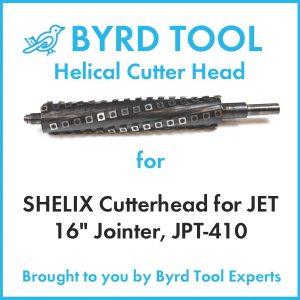 SHELIX Cutterhead for JET 16″ Jointer, JPT-410
