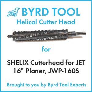 "SHELIX Cutterhead for JET 16"" Planer"