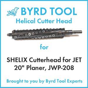 "SHELIX Cutterhead for JET 20"" Planer"