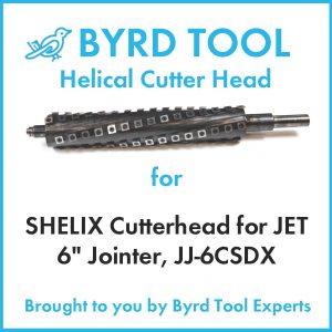 SHELIX Cutterhead for JET 6″ Jointer, JJ-6CSDX
