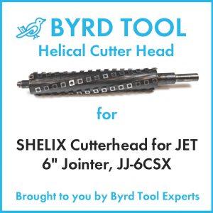 """SHELIX Cutterhead for JET 6"""" Jointer, JJ-6CSX"""