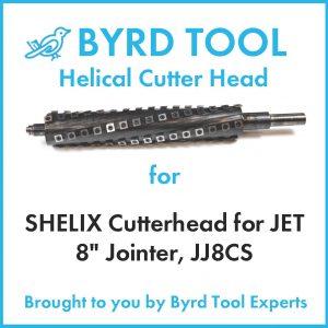 """SHELIX Cutterhead for JET 8"""" Jointer, JJ8CS"""