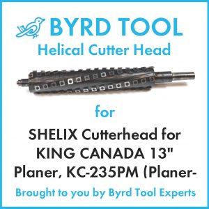"SHELIX Cutterhead for KING CANADA 13"" Planer"