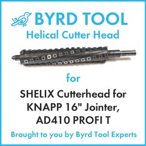 SHELIX Cutterhead for KNAPP 16″ Jointer, AD410 PROFI T