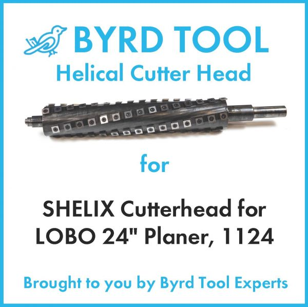 "SHELIX Cutterhead for LOBO 24"" Planer"