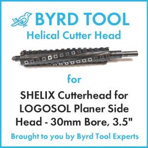 SHELIX Cutterhead for LOGOSOL Planer Side Head