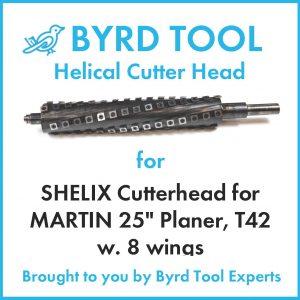 """SHELIX Cutterhead for MARTIN 25"""" Planer"""