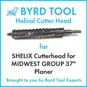 """SHELIX Cutterhead for MIDWEST GROUP 37"""" Planer"""