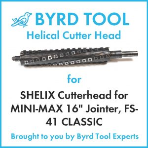 SHELIX Cutterhead for MINI-MAX 16″ Jointer, FS-41 CLASSIC