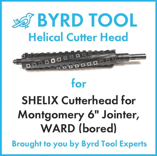 SHELIX Cutterhead for Montgomery 6″ Jointer, WARD (bored)