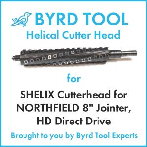 SHELIX Cutterhead for NORTHFIELD 8″ Jointer, HD Direct Drive
