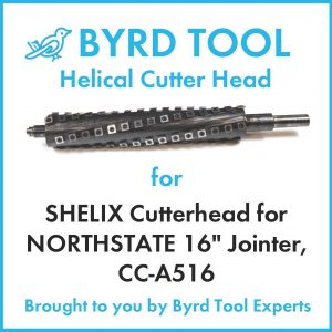 SHELIX Cutterhead for NORTHSTATE 16″ Jointer, CC-A516