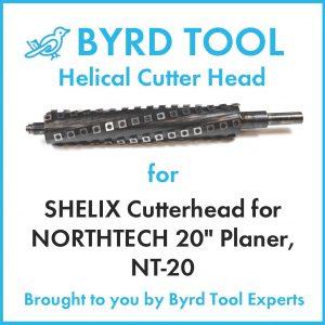 """SHELIX Cutterhead for NORTHTECH 20"""" Planer"""
