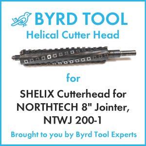 SHELIX Cutterhead for NORTHTECH 8″ Jointer, NTWJ 200-1