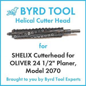 "SHELIX Cutterhead for OLIVER 24 1/2"" Planer"